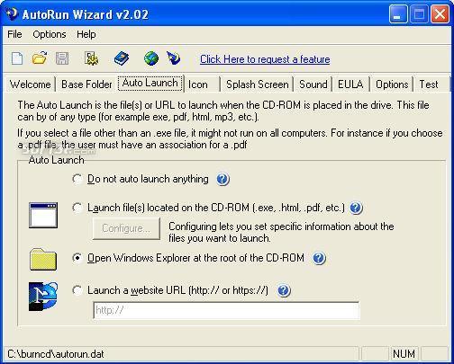 AutoRun Wizard Screenshot 2