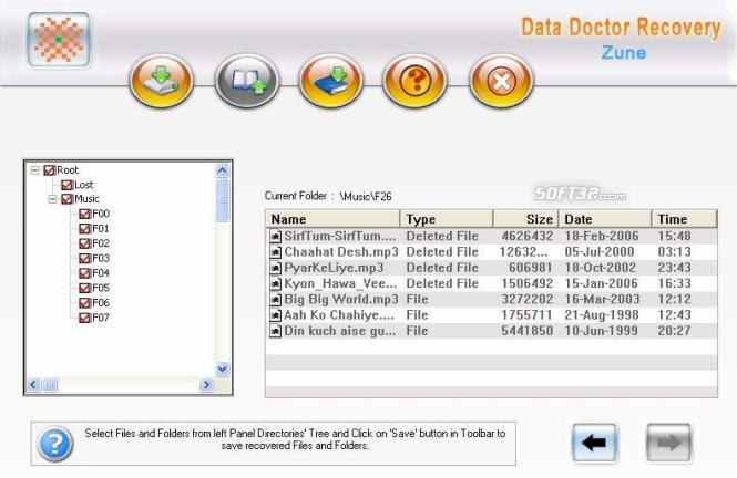 Zune Disk Files undelete Tool Screenshot 2