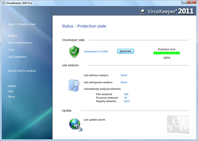 VirusKeeper 2009 Pro Screenshot