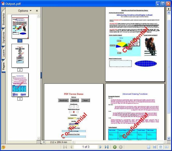 PDFtoolkit ActiveX/.NET Screenshot
