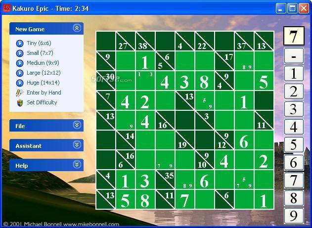 Kakuro Epic Screenshot 3