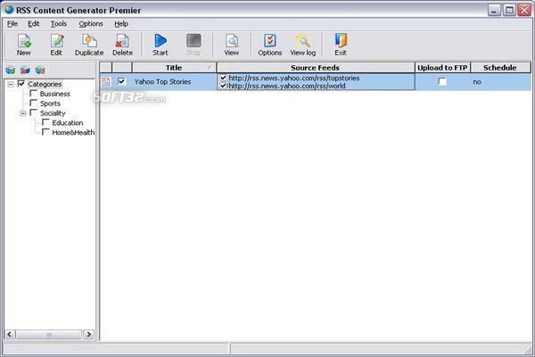 RSS Content Generator Professional Screenshot 3