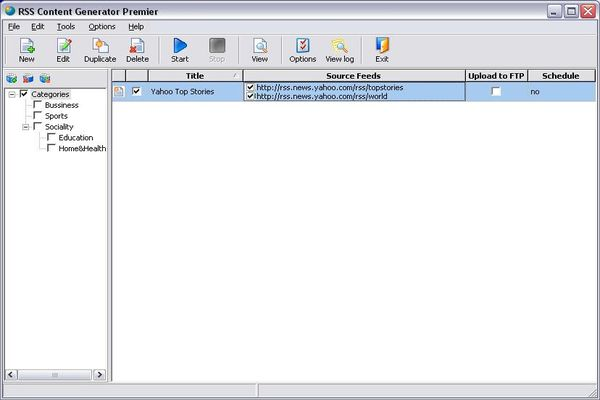 RSS Content Generator Professional Screenshot 1