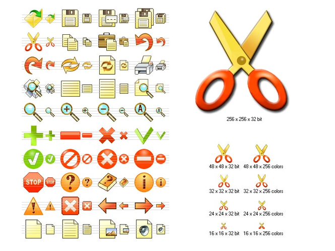 Fire Toolbar Icons Screenshot