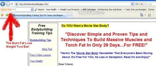 Burn Fat Lose Weight Toolbar Screenshot