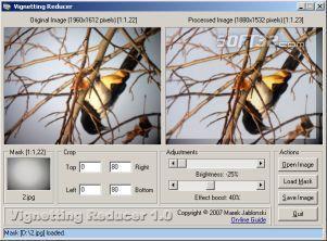 Vignetting Reducer Screenshot 2