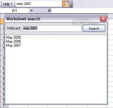 Worksheet Search Screenshot