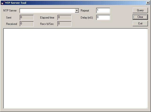 NTP Server Tool Screenshot