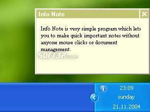 Info Note Screenshot