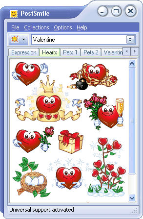 Valentine Smiley Collection for PostSmile Screenshot