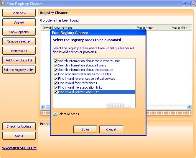 Free Registry Cleaner Screenshot 2