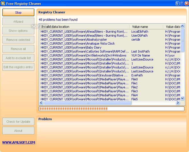 Free Registry Cleaner Screenshot 3