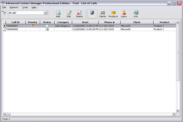 Advanced Contact Manager Professional Screenshot