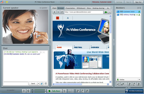 PC Video Conference Meeting Screenshot