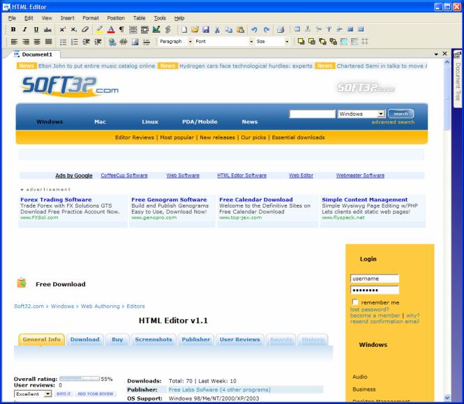 HTML Editor Screenshot 4