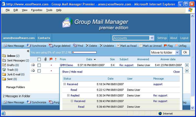 Group Mail Manager Premier Screenshot