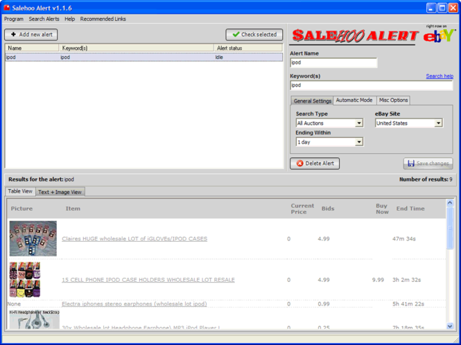 Free SaleHoo Software | Free Wholesale Software Screenshot
