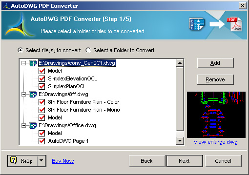 DWG to PDF Converter Pro AutoDWG Screenshot
