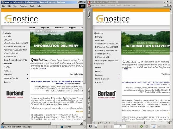Many2PDF ActiveX/.NET Screenshot