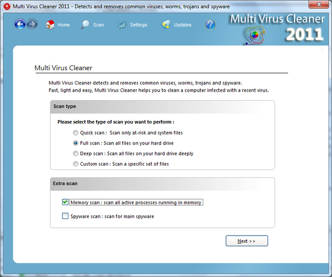 Multi Virus Cleaner 2011 Screenshot 1
