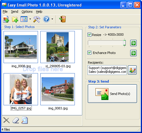 Easy Email Photos Screenshot