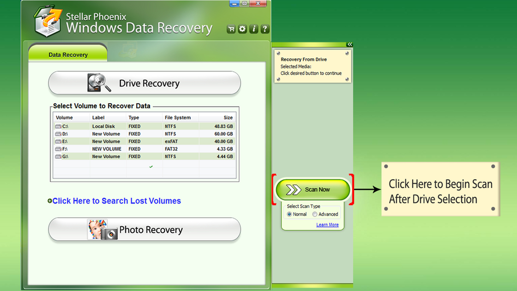 Stellar Phoenix Windows Data Recovery Screenshot