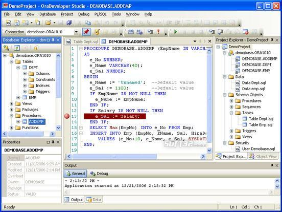 OraDeveloper Studio Screenshot 2