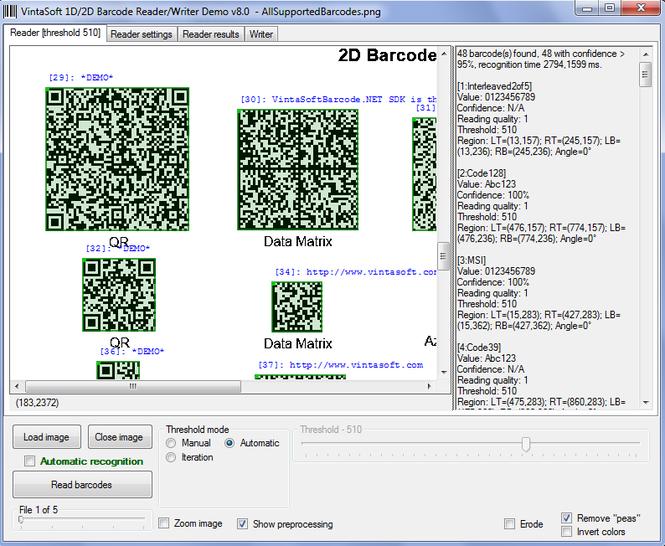 VintaSoftBarcode.NET SDK Screenshot 2
