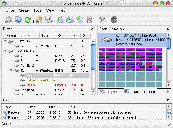 Ancysoft Data Recovery Software Screenshot