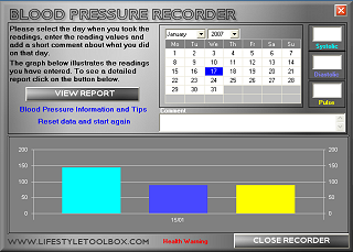 Blood Pressure Recorder Screenshot