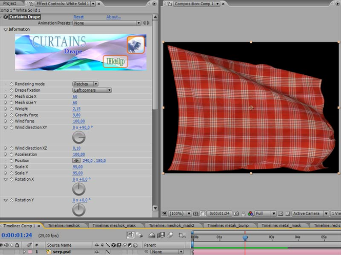 Curtains for After Effects Screenshot