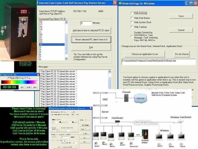 Internet Cyber Cafe Self Service Server Screenshot 2
