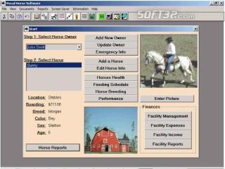 Visual Horse Software: Horse Manager Screenshot