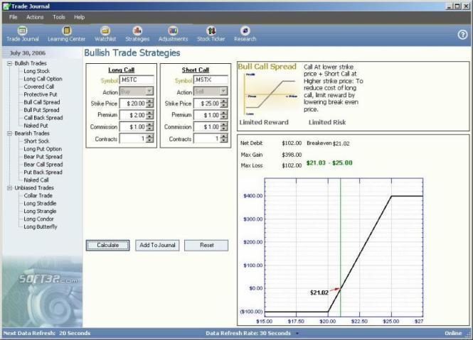 Trade Journal Software Screenshot