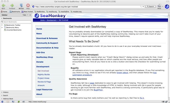 SeaMonkey for Mac Screenshot