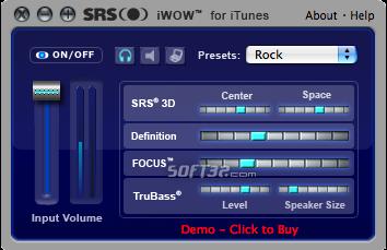 SRS iWOW Screenshot 2