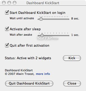 Dashboard KickStart Screenshot 1