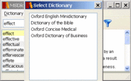 Oxford English Minidictionary forWindows Screenshot