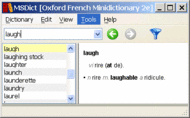 Oxford French Minidictionary for Window Screenshot