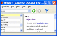 Pocket Oxford English and Thesaurus Win Screenshot 1