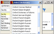 Pocket Oxford Italian Dictionary Windows Screenshot 1