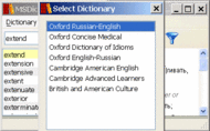 Pocket Oxford Russian Dictionary Windows Screenshot 1