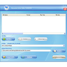 McFunSoft iPod Video Converter Screenshot