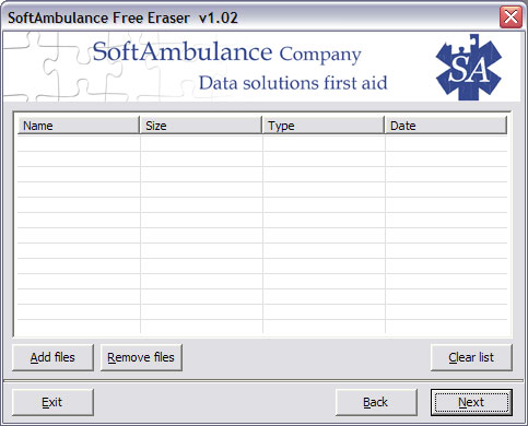 SoftAmbulance Free Eraser Screenshot