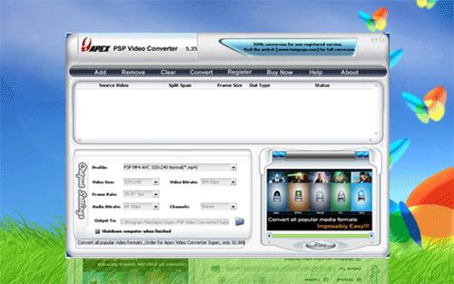 Apex PSP Video Converter Screenshot 1