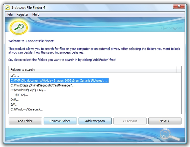 1-abc.net File Finder Screenshot