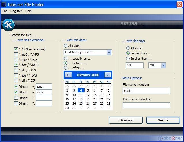 1-abc.net File Finder Screenshot 3