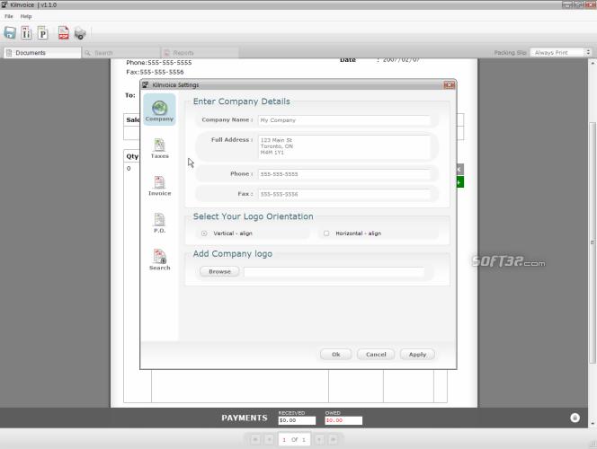 KiInvoice Screenshot 2