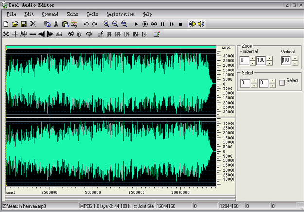 Cool Audio Editor Screenshot
