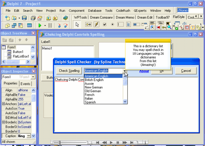 Delphi Spell Checker PRO Screenshot